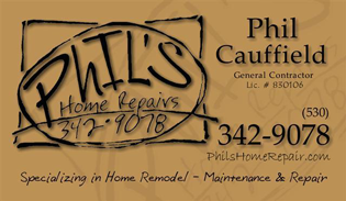 Phil's Home Report Business Card